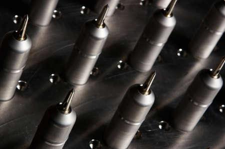 objects: Sharp metal objects.