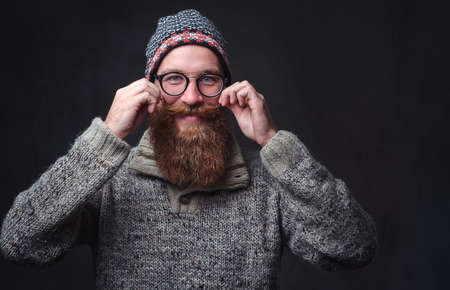 A man with red beard.
