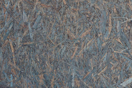 Close-up image of a old chipboard. OSB wooden plate. Stock Photo