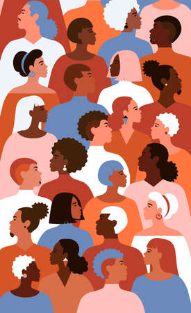 Illustration of multicultural people.