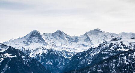 eiger: Switzerland Eiger Mönch and Jungfrau Stock Photo