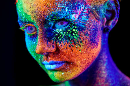 close up retrato uv