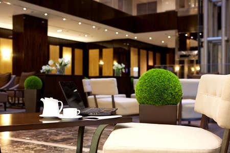 Modern luxury lobby interior in hotel
