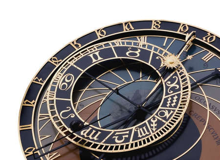 Isolated detail of astronomical clock in Prague, Czech republic photo