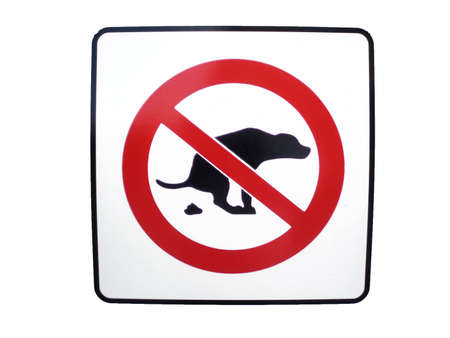 No dog poop isolated  forbiddance sign. Stock Photo - 957403