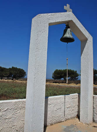 Belfry of the church in Zia - village on Greek island Kos photo