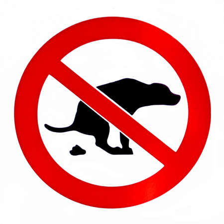 No dog poop isolated  forbiddance sign Stock Photo