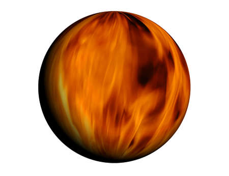 Sphere full of fire - based on real fire photo Stock Photo - 2047614