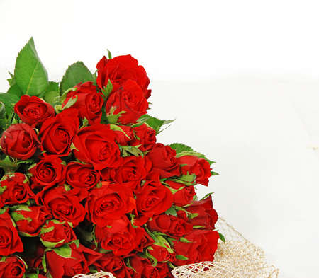 Bunch of red roses isolated on the white background  Stock Photo - 2142642