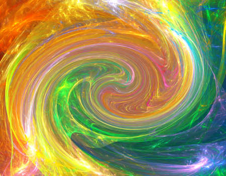 Happy twirl fractal background with rainbow colors photo