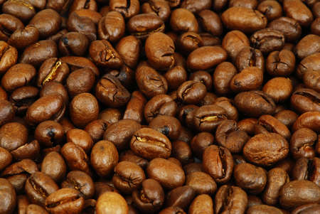 cardiovascular exercising: Background of coffee beans with great honey color