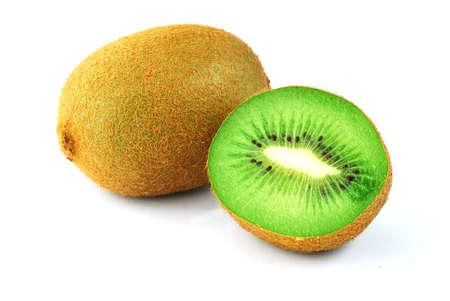 Kiwi macro shot - fresh green fruit isolated  photo