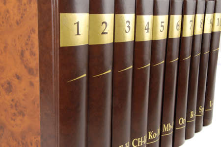 tomes: Encyclopedia set - 10 heavy book tomes isolated