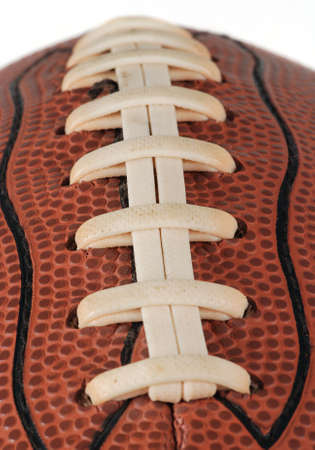 Detail of a ball for american football isolated. With shallow DOF Stock Photo - 2691213
