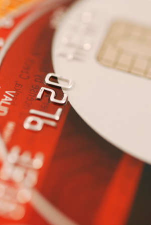 expires: Macro of credit card - very shallow DOF