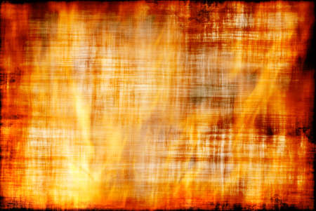 infernal: Ancient parchment is burning in flame textured fire background