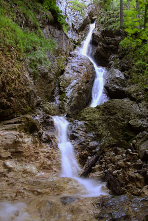 One of the many waterfalls in the Slovakian paradise natural park Stock Photo - 3747614