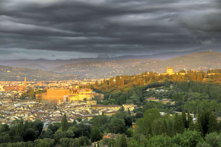 Storm is coming to Florence, Italy. HDR image  Stock Photo - 4614567