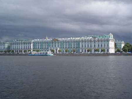 Winter palace (Hermitage gallery) from Neva river  photo