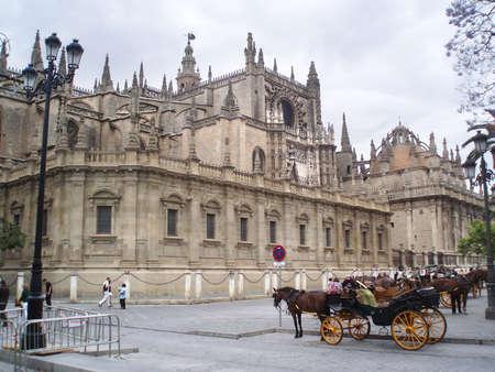 la: Mihty Kathedrale La Giralda, Sevilla in Spanien