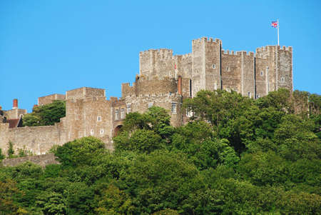 dover: Mighty castle on the hill above Dover, United Kingdom