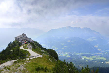 berchtesgaden: Eagles nest in the bavarian Alps near Berchtesgaden in Germany  Stock Photo