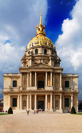 Dome of  Les Invalides in Paris, France  photo