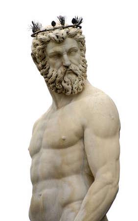 poseidon: Poseidon Statue from Florence (Fontana del Nettuno), Italy -  isolated