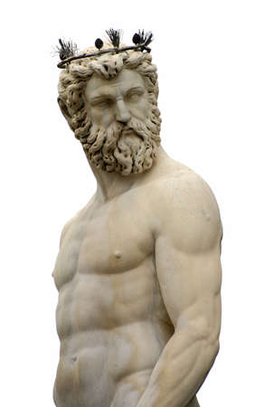neptun: Poseidon Statue von Florenz (Fontana del Nettuno), Italien - isoliert Lizenzfreie Bilder