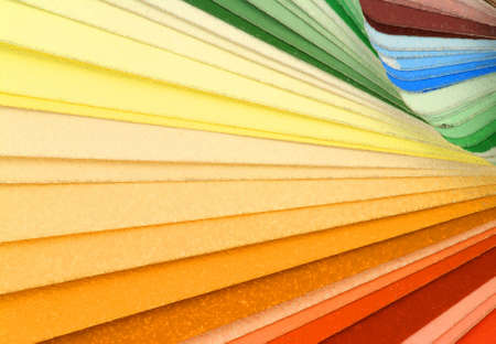 Heap of color samples - vibrant background photo