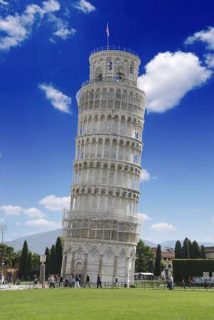 pisa: Scheve toren van Pisa in Italië met kathedraal  Stockfoto