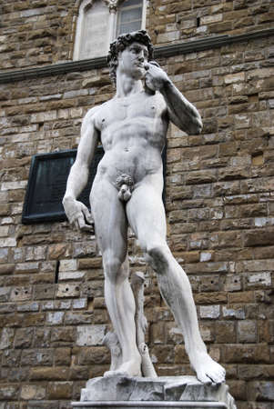 manhood: Replica of Michelangelos David at its original standing place