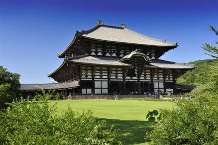 Nara Daibutsu todai-ji - famous Buddhism temple hiding the statue of the largest sitting Buddha statue in the world Stock Photo - 8848239