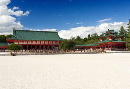 Beautiful vivid photo of a Heian Shrine in Kyoto, Japan Stock Photo - 8848189