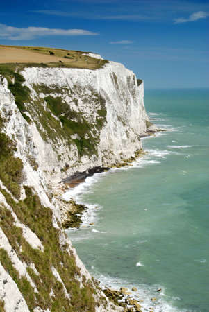 dover: View at white cliffs of Dover, Great Britain