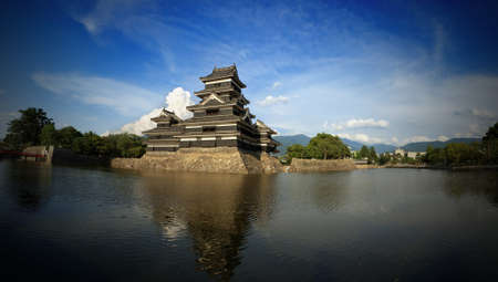 honshu: Beautiful medieval castle Matsumoto in the eastern Honshu, Japan Editorial