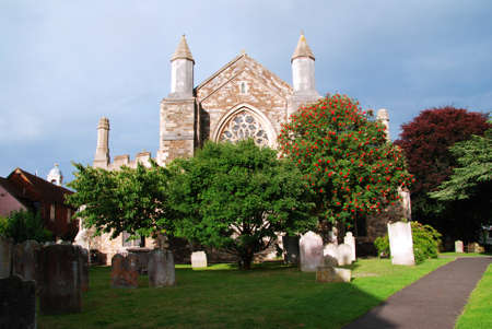 parish: Beautiful Parish Church of Saint Mary the Virgin in Rye, Diocese of Chichester, England  Stock Photo