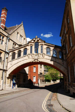 oxford street: Famous Bridge of Sighs in Oxford, Oxfordshire  Great Britain.