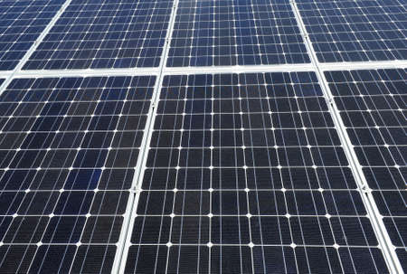 Detailed background of a big solar panel  photo