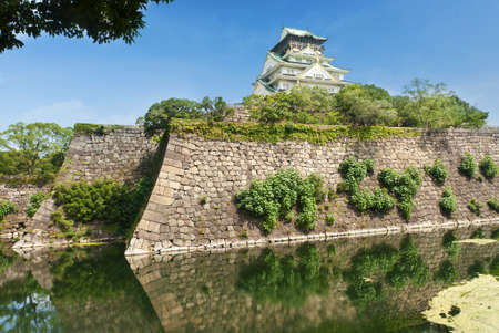 donjon: Reconstruction of a great castle of famous Hideyoshi at Osaka, Japan  Editorial
