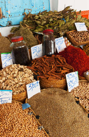 safran: Beautiful vivid oriental market with various spices