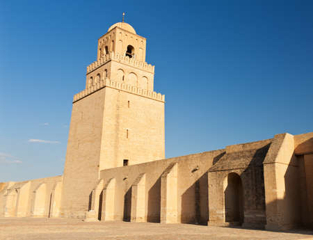 coran: Great Mosque of Kairouan, Tunisia is the fourth most sacred place of islam  Stock Photo
