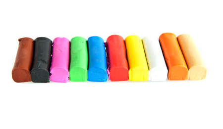 clay modeling: Bars of colorful modeling clay used for childern to play