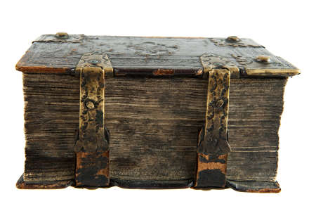 18th century: Very old book from the 18th century isolated on white