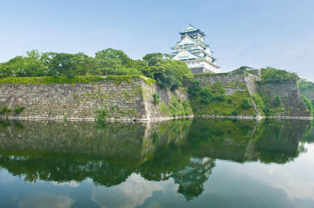 feudal: Reconstruction of a great castle of famous Hideyoshi at Osaka, Japan  Editorial