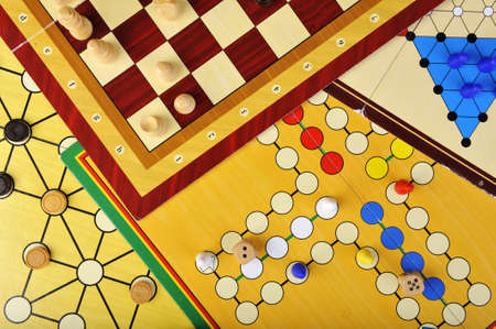 Various board games of ludo, halma, chess and fox and geese  Stock Photo - 12868850