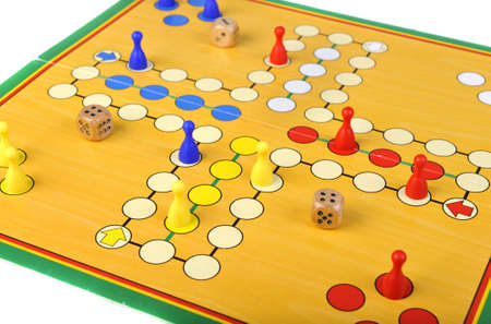 The ancient board game of Ludo (Take it Easy) is trully international. It has its original and specific name and version in many countries across the Globe. Stock Photo - 12868878