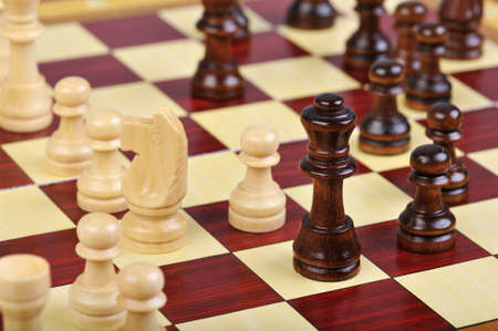 boardgames: Detailed photo of the chess board game Stock Photo