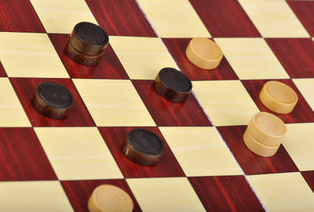 Detailed photo of the checkers board game Stock Photo - 12868874