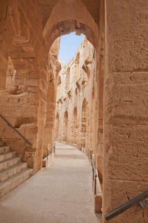 Famous ancient Roman Amphiteater El Jem, Tunisia photo